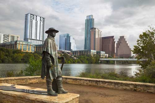 Shop CBD For Dogs And Cats In Austin Stevie Ray Vaughn Statue