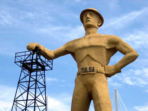 Shop CBD For Dogs And Cats Tulsa Golden Driller Statue